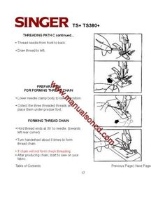Sewing machines, Manual and Threading on Pinterest