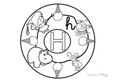 1000+ images about Mandalas abecedario on Pinterest