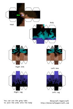 Papercraft Minecraft and Fes on Pinterest