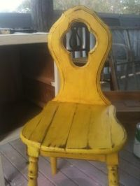 old wooden chairs on Pinterest