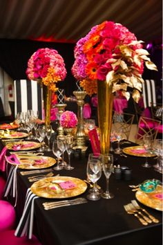 1000 images about Black white and Gold Tablescapes on