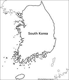 South Korea-blank map Several good ideas for learning