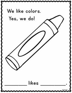 Color the crayons! This worksheet will help your