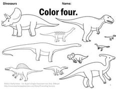 This fun and engaging dinosaur color by number worksheet