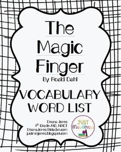 FREE Comprehension Packet for The Magic Finger by Roald