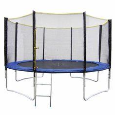 trampoline cm avec filet de protection et son echelle sport jardin trampolineenfant