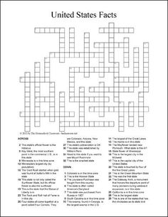 A printable crossword puzzle to help teach students about