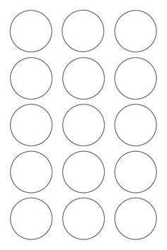 1 inch Circle Template Printable and many other sizes