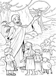 Luke 9 on the Second Sunday of Lent. Coloring idea for the