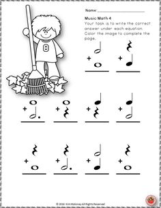 Do you need a fun note value worksheet for your students