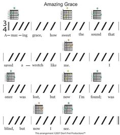 easy guitar sheet music for amazing grace featuring don't