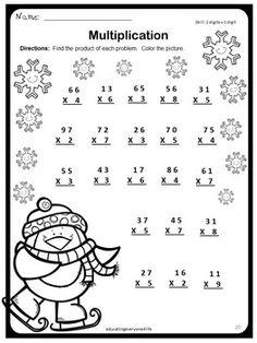 Multiplication worksheets, Multiplication and Printable