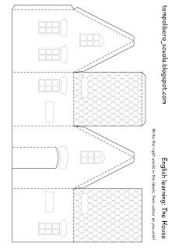 paper template templates houses simple printable patterns cardboard christmas gingerbread learning english craft crafts tempo di libero pattern village printables