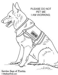 Army Dog Coloring Pages Sketch Coloring Page