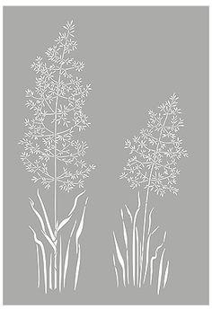 Grass Stencils Wild Slender Oats Stencil Wild Grasses Wild
