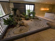 Indoor Japanese Small Pond Zen Garden Stock Photo 379917820 Indoor