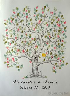 1000 images about fingerprint trees on Pinterest