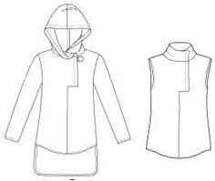 Menswear Trench Coat Flat Spec Sketches Technical Fashion