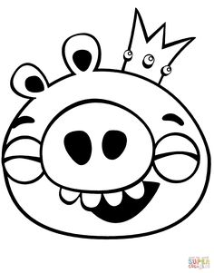 Angry Birds King Pig coloring page. Looks like math-aids
