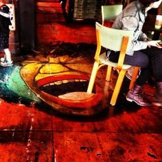 a coffee shop with o