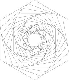 How to draw geometric swirl patterns with templates