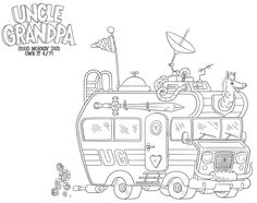 Free Pizza Steve Coloring Page from Uncle Grandpa