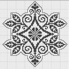 Phoenix rising: This pattern is good for filet crochet or