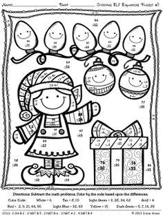 Christmas maths activities, Christmas math and Math