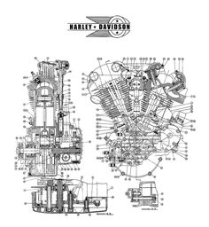 Details about HARLEY DAVIDSON SHOVELhead Engine BLUEPRINT