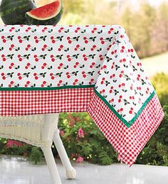 Gingham sewed to cheap WalMart kitchen towels to decorate them  Needle  Thread  Pinterest  The old Tablecloths and Towels
