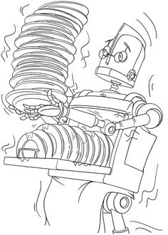 1000+ images about Robot Coloring Pages on Pinterest