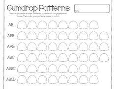 Beautiful Abb Pattern Worksheets For Kindergarten Abb