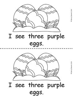 FREE emergent reader for Easter. Sight words I, can, see