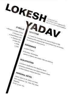 Resume, Design resume and Branding on Pinterest