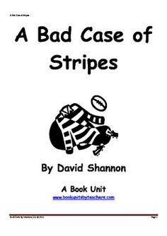 Visualizing Activity! I read aloud A Bad Case of Stripes