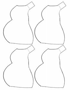 Bib pattern. Use the printable outline for crafts