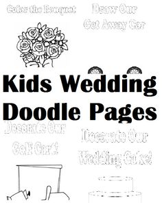 Wedding Activity Book for kids! Maze, Coloring Page