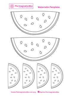 Make your own watermelon bunting for summer parties and