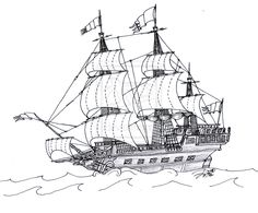 Pirate Coloring Page Printables Pirate Ship Coloring Page