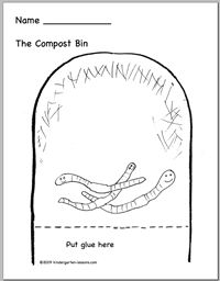 environmental education worksheets: Cute idea; they draw
