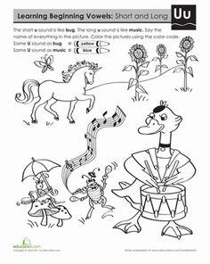 Long vowels, Worksheets and Vowel sounds on Pinterest