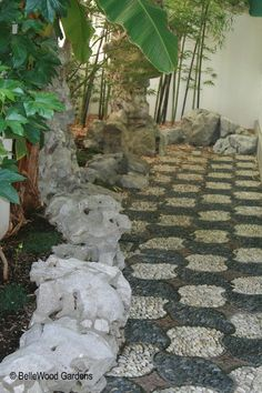 Picture Of Pebble Stone Path Walkway In Chinese Garden Stone