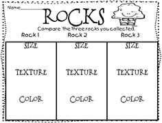Learning About Rocks: Writing Activities, Experiments