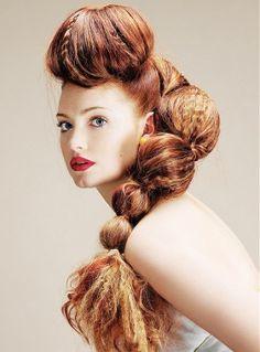 Avant Garde Hair Art #Hair #hairdressers #inspiration #coolhair