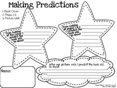 Making predictions worksheet: helps students to stay