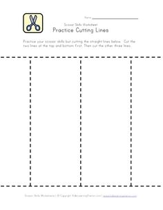 16 Printable cutting sheets, including,straight lines, zig