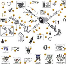 Jeep Wrangler YJ Suspension Parts Exploded View Diagram (Years 19871995) Jeep Wrangler YJ