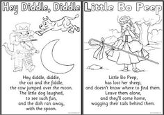 Free Mother Goose Printables plus crafts, activities, and