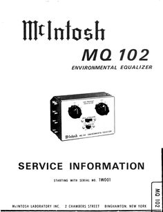 1000+ images about McIntosh Service Manuals on Pinterest