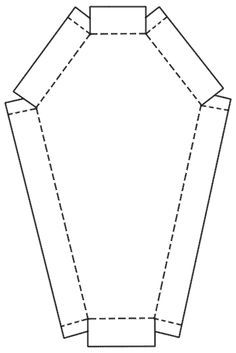 Coffin pattern. Use the printable outline for crafts